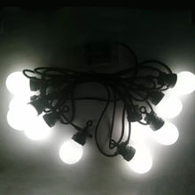 China 10 LED globe string light, rubber black wire/DC 24V adapter, CE/RoHS/GS/SAA/UL/EMC