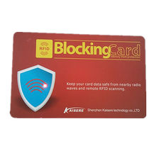 China RFID blocking card, protecting your credit card and E-passport