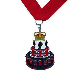 China Queen's birthday cake medal UK flag medal