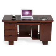 Hot selling popular wooden computer desks with two cabinets and different colors to choose from