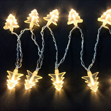 China Warm White LED Chain Lights, Christmas Decor 2AA Battery Operated with PVC Christmas Tree
