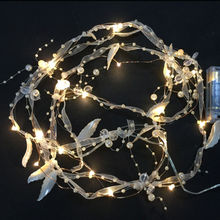China Warm white LED fairy lights for wedding decor 2AA battery operated with pearl ornamental