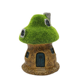 2017 Spring Fairy Garden Mushroom House with LED Light Miniature,Made of High Quality Resin