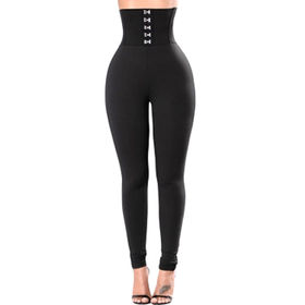 Corset Belt High Waist Leggings, Made of 95% Polyester and 5% Spandex, Available in Various Sizes