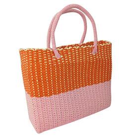China Contrast Color straw handbag