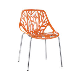 China Stackable modern plastic dining chair