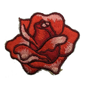 Iron-on Embroidered Applique, DIY Flower Design for Garments, Bags and Shoes from Artist Embroidery Co.
