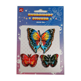 Iron-on Patch, DIY Butterfly Embroidery for Apparel, Bags, Hats and Shoes