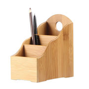 Bamboo eco-friendly bottle pen holder, pen storage box, bamboo crafts gift hand made