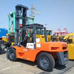 China 10 Tons Forklift Truck New Diesel Forklift Anhui CPCD100