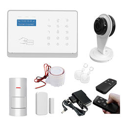 WiFi+GSM all in one Burglar video Security alarm kit