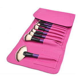 24pc Professional Makeup Brush Set with Hot Pink Pouch from Shenzhen Rejolly Cosmetic Tools Co., Ltd.