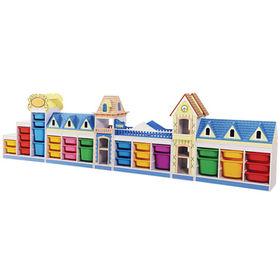 China Kids preschool toy shelf wooden daycare furniture