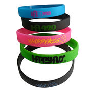 Silicone bracelets, printting embossed debossed silicone rubber band from Iris Fashion Accessories Co.Ltd