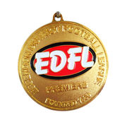 China Customized medal for football league with lanyard, gold plating,sandblast