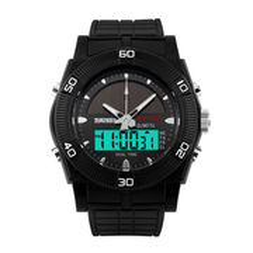 SKMEI Solar Power Digital Watch Men's Dual Display LED Sports Watches Waterproof
