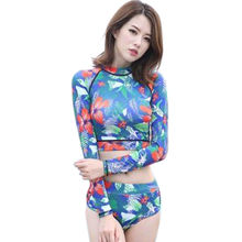 UV protection with long sleeves, 82% polyester and 18% spandex fabric fashion swimwear