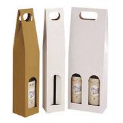 China Custom Made Wine Bottle Paper Bag, Paper Win Bag, Wine Paper Bag