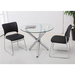 Glass dining table set for two person use