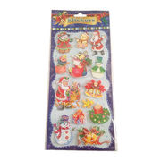 China 3D Merry Christmas Decorative Stickers