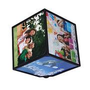China 360 Rotating Revolving Multi Picture Photo Frames Cube Black Home Decor Family