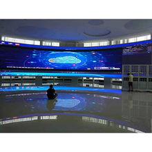 P4 Curved Big Digital LED Display in Meeting Room