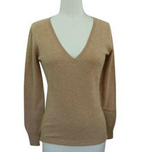 China High quality 100% Cashmere V Neck Woman Pullover