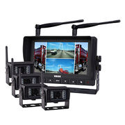China Digital Wireless DVR Quad Monitor Camera System