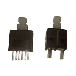 China Switch 8.5*8.5, 17.7mm, Diode Push Switch with Lock, RoHS-marked