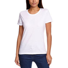 Women's Round-neck T-shirts, Made of Cotton Fabric from Global Silkroute