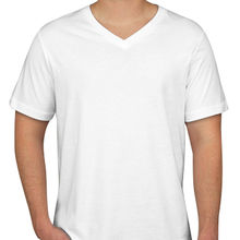 Men's V-neck T-shirt, made of cotton from Global Silkroute