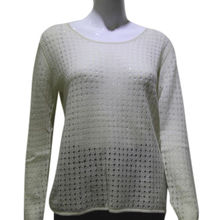 100% cashmere crew neck knit women's sweater from Inner Mongolia Shandan Cashmere Products Co.Ltd