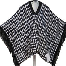 New fashion women's knitted cashmere poncho from Inner Mongolia Shandan Cashmere Products Co.Ltd