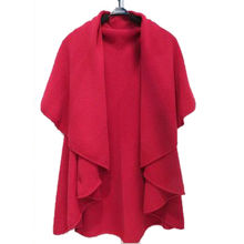 New fashionable ladies' knitted cashmere poncho from Inner Mongolia Shandan Cashmere Products Co.Ltd
