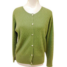 100% cashmere cable women's cardigan cashmere sweater for women from Inner Mongolia Shandan Cashmere Products Co.Ltd
