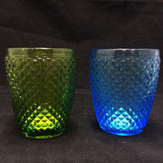China Hand pressed colourful glass tumbler