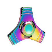 China Rainbow tri fidget spinner toy