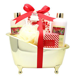 China Bath/Spa Gift Set for Christmas with Body Lotion, Shower Gel, Bath Salt