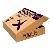 China Accept customized printings 100% recycled kraft paper shipping box for overseas