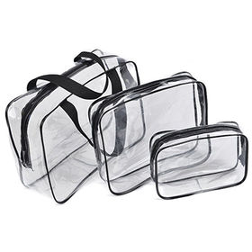 Promotion clear PVC cosmetic bag toilet bag