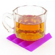 China Custom design silicone coasters water/tea/coffee silicone cup coasters