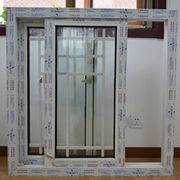 China UPVC window PVC 85mm series sliding window