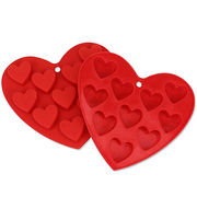 Heart-shaped Silicone Ice Tray Mold Maker