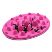 Hot selling cat/dog interactive feeder, pet silicone slow feeder bowl