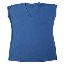 Women's Short-sleeved V-neck T-shirt, Made of Organic Cotton from Global Silkroute
