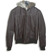 China Men's Washable Aviate Leather Jacket with Ribbon Hem and Cuff