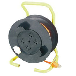 China Extension cord reel for general indoor use, 30ft retractable reel with triple-tap,13A, 125V-1625W