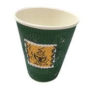 China 12oz ripple wall paper cup