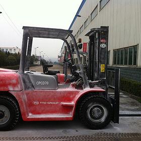Forklift truck YTO CPCD70 7 tons diesel forklift