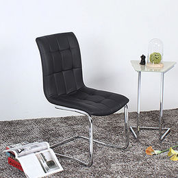 China Qualified Black PU Leather Modern Dining Chair